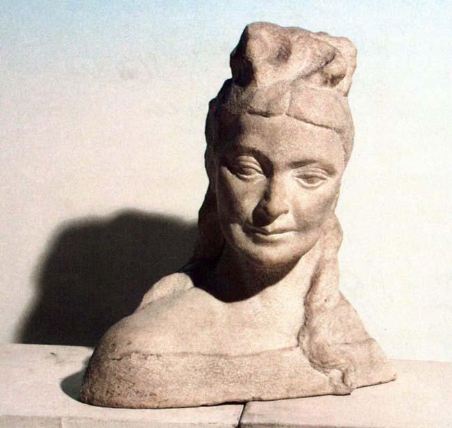 Sculptură - Pătraşcu, Miliţa; Actriţa Agepsina Macri - Academia Română - BUCUREŞTI (Patrimoniul Cultural National Mobil din Romania. Ordin de clasare: 2013/24.01.2005 - Tezaur)