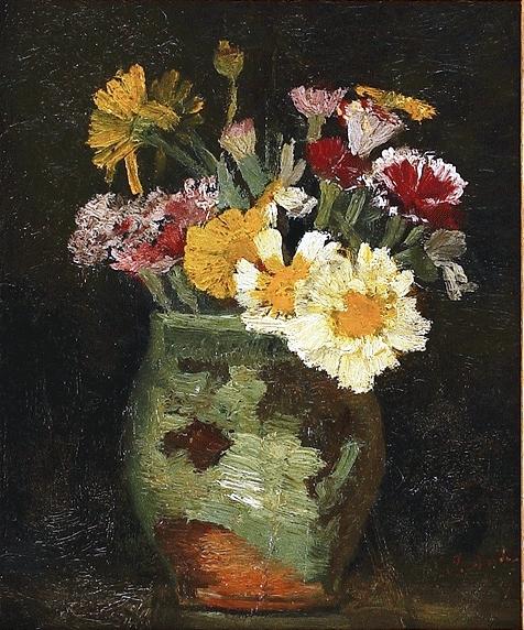 Pictură de şevalet - Andreescu, Ioan; Ulcică cu flori de câmp