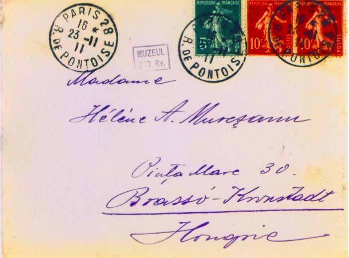 document - Mureşianu, A. Aurel; Mureşianu A. Aurel către mama sa, Elena