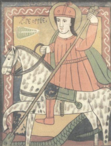 icoană; Sfântul Gheorghe - Complexul Muzeal Arad - ARAD (Patrimoniul Cultural National Mobil din Romania. Ordin de clasare: 2032/23.01.2012 - Tezaur)