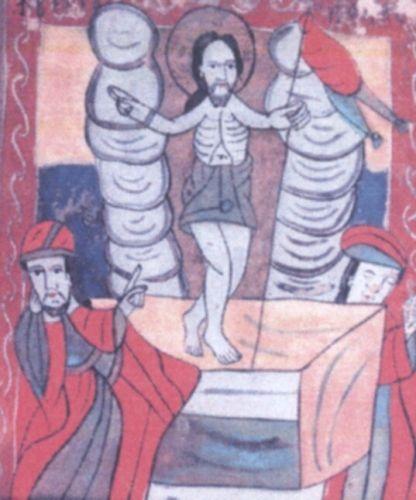 icoană; Învierea - Muzeul Ţării Crişurilor - ORADEA (Patrimoniul Cultural National Mobil din Romania. Ordin de clasare: 2213/04.04.2011 - Tezaur)
