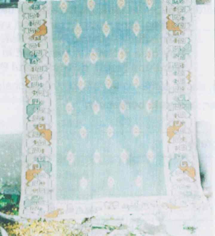 """covor - Memorialul Ipoteşti - Centrul Naţional de Studii """"Mihai Eminescu"""" - BOTOŞANI (Patrimoniul Cultural National Mobil din Romania. Ordin de clasare: 2454/17.07.2008 - Tezaur)"""
