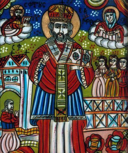 Icoană; Sfântul Nicolae - Muzeul Naţional Bran - BRAŞOV (Patrimoniul Cultural National Mobil din Romania. Ordin de clasare: 2783/19.12.2011 - Fond)