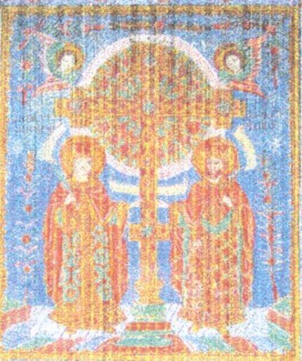 Icoană - Purcariu, Matei (Ţimforea); Sfinţii Împăraţi Constantin şi Elena - Complexul Naţional Muzeal ASTRA - SIBIU (Patrimoniul Cultural National Mobil din Romania. Ordin de clasare: 2065/16.02.2006 - Tezaur)