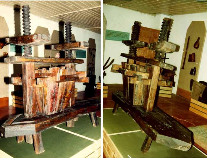 Unealtă; Teasc - Muzeul Vrancei - FOCŞANI (Patrimoniul Cultural National Mobil din Romania. Ordin de clasare: 2048/26.01.2007 - Tezaur)