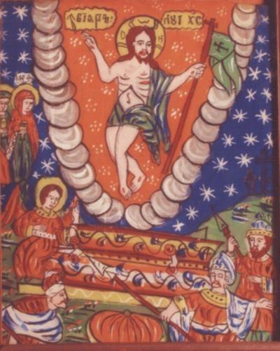 icoană; Învierea Domnului - Muzeul Etnografic al Transilvaniei - CLUJ-NAPOCA (Patrimoniul Cultural National Mobil din Romania. Ordin de clasare: 2665/12.11.2010 - Tezaur)