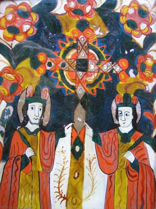 icoană; Sfinţii Împăraţi Constantin şi Elena - Muzeul Maramureşului - SIGHETU MARMAŢIEI (Patrimoniul Cultural National Mobil din Romania. Ordin de clasare: 2156/17.03.2008 - Fond)