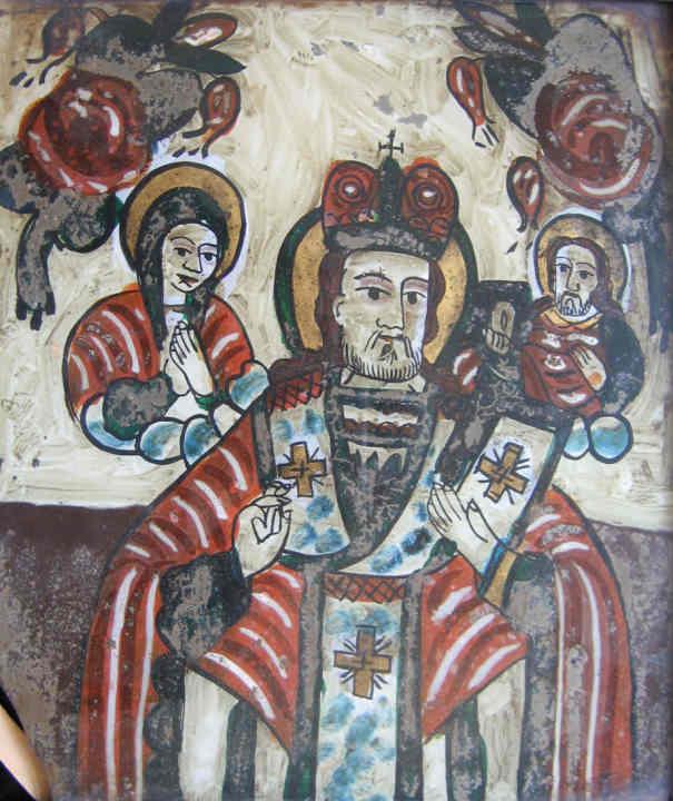 Icoană; Sfântul Nicolae - Muzeul Maramureşului - SIGHETU MARMAŢIEI (Patrimoniul Cultural National Mobil din Romania. Ordin de clasare: 2156/17.03.2008 - Fond)