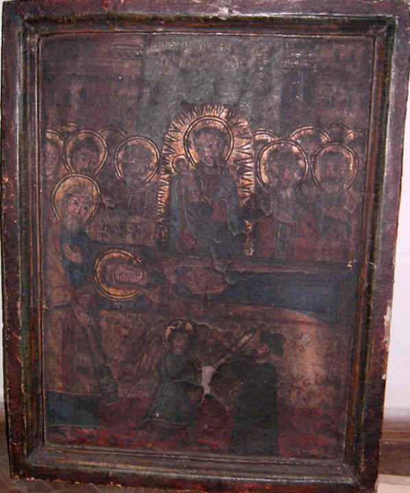 Icoană; Adormirea Maicii Domnului - Muzeul Maramureşului - SIGHETU MARMAŢIEI (Patrimoniul Cultural National Mobil din Romania. Ordin de clasare: 2158/17.03.2008 - Fond)