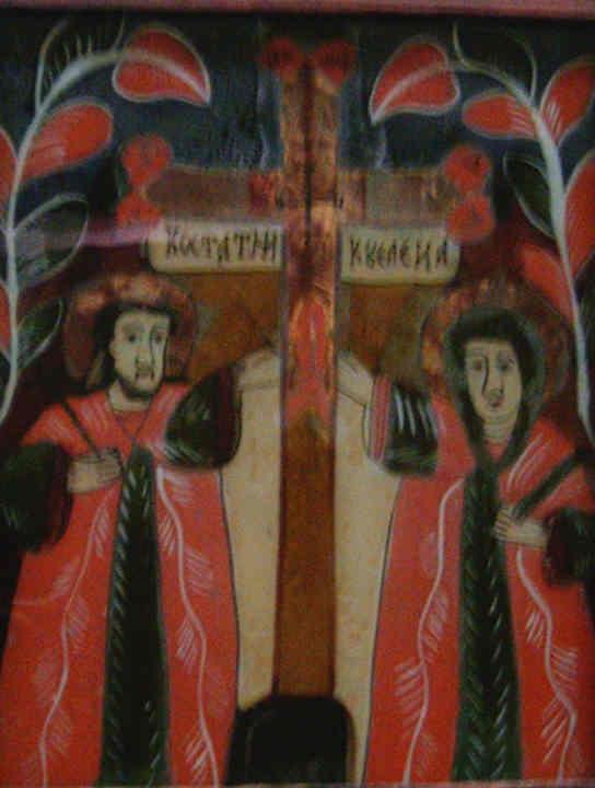Icoană; Sfinţii Împăraţi Constantin şi Elena - Muzeul Maramureşului - SIGHETU MARMAŢIEI (Patrimoniul Cultural National Mobil din Romania. Ordin de clasare: 2159/17.03.2008 - Tezaur)
