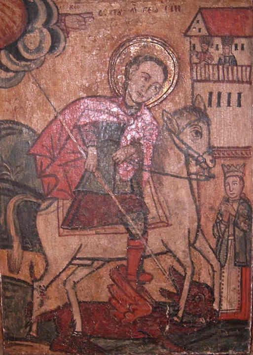 Icoană; Sfântul Gheorghe - Muzeul Maramureşului - SIGHETU MARMAŢIEI (Patrimoniul Cultural National Mobil din Romania. Ordin de clasare: 2193/31.03.2008 - Tezaur)