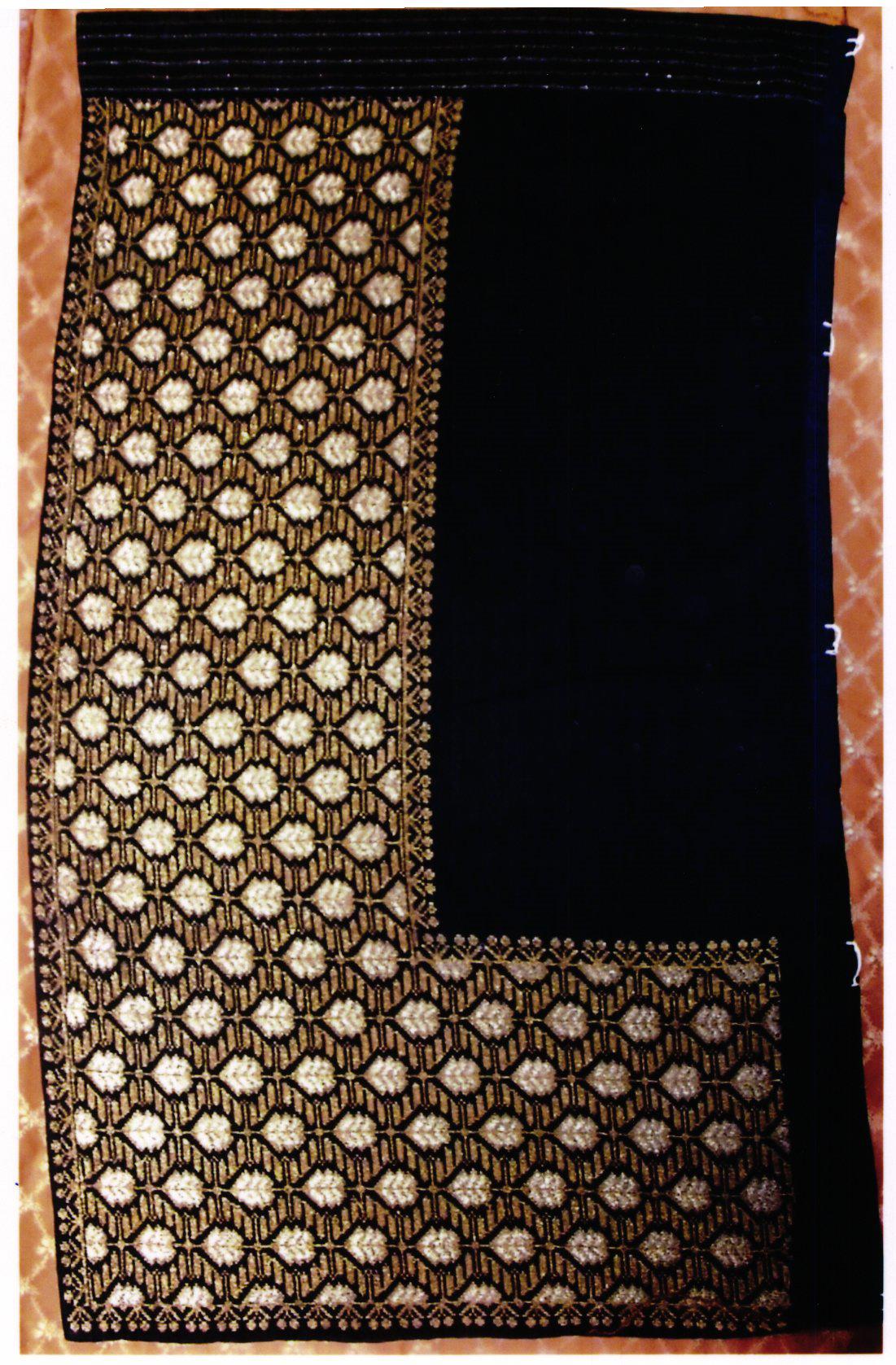 anonim; Fotă pe negru cu fir mărgelat - Muzeul Viticulturii şi Pomiculturii - GOLEŞTI (Patrimoniul Cultural National Mobil din Romania. Ordin de clasare: 2356/14.06.2017 - Tezaur)