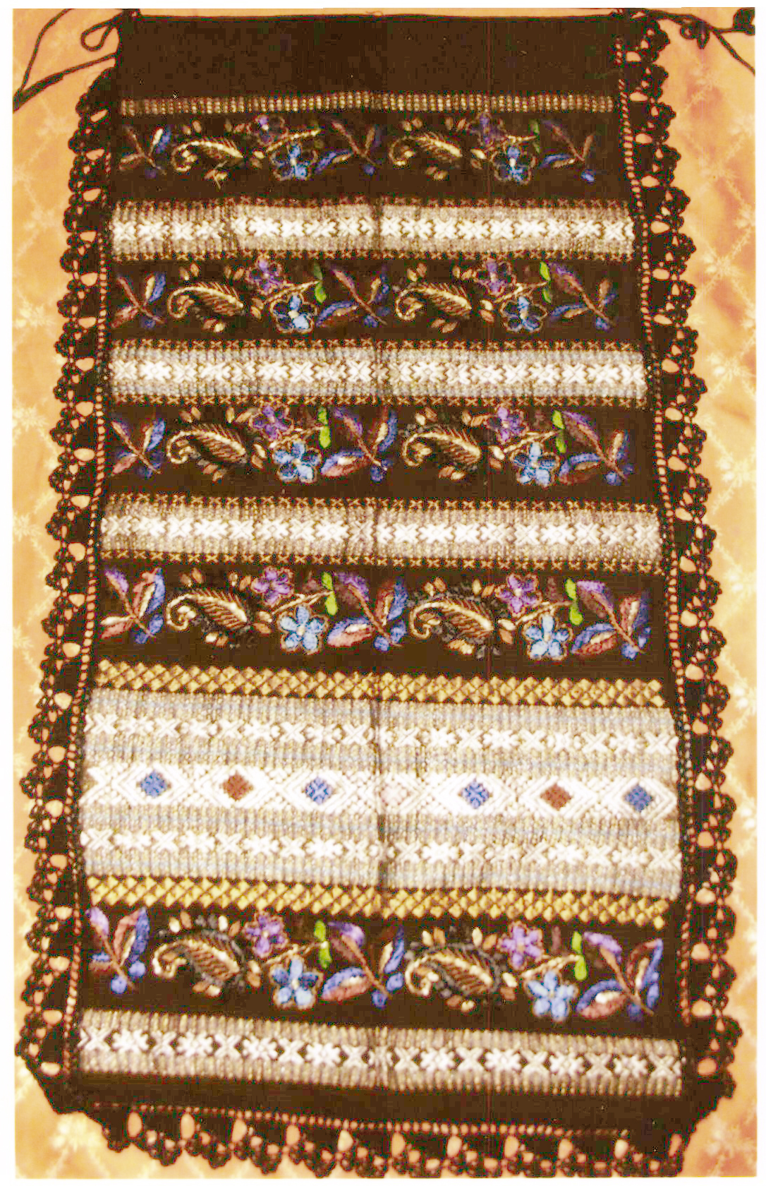 Şorţ femeiesc - anonim; Şorţ - Muzeul Viticulturii şi Pomiculturii - GOLEŞTI (Patrimoniul Cultural National Mobil din Romania. Ordin de clasare: 2356/14.06.2017 - Tezaur)