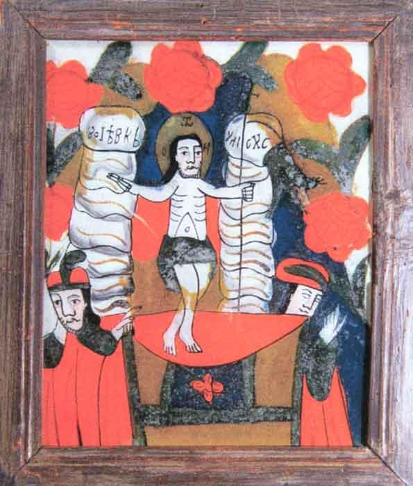 Icoană; Învierea Domnului - Muzeul Naţional al Ţăranului Român - BUCUREŞTI (Patrimoniul Cultural National Mobil din Romania. Ordin de clasare: 2601/07.04.2003 - Tezaur)