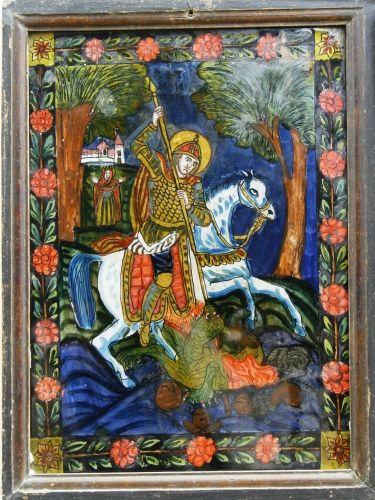 Icoană - Kostea, Ioan (?); Sfântul Mare Mucenic Gheorghe - Muzeul Naţional al Ţăranului Român - BUCUREŞTI (Patrimoniul Cultural National Mobil din Romania. Ordin de clasare: 2071/19.02.2009 - Tezaur)
