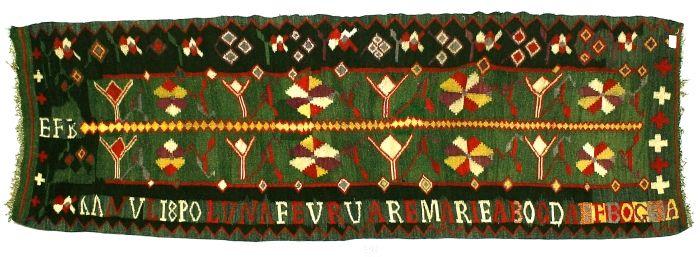 Covor - Bogdaef Bogza, Maria; Scoarţă - Muzeul Naţional al Ţăranului Român - BUCUREŞTI (Patrimoniul Cultural National Mobil din Romania. Ordin de clasare: 2159/08.04.2010 - Tezaur)