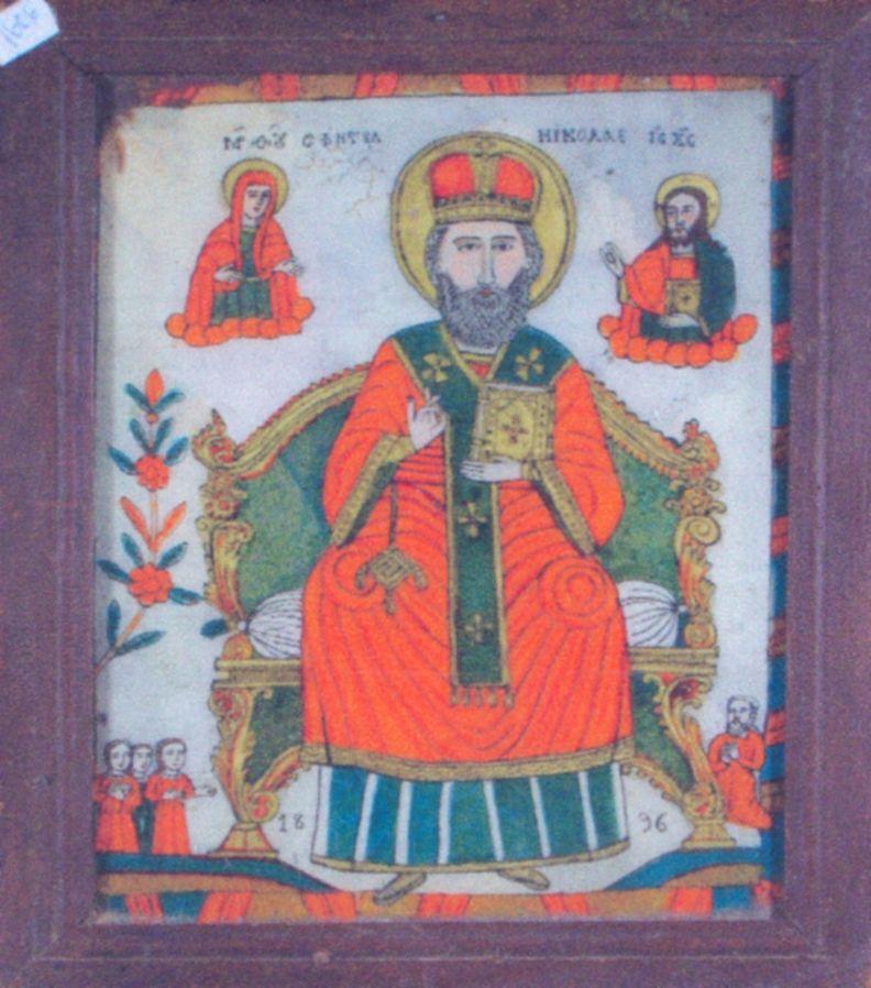 icoană - Purcariu, Matei (Ţimforea); Sfântul Ierarh Nicolae - Academia Română - BUCUREŞTI (Patrimoniul Cultural National Mobil din Romania. Ordin de clasare: 2428/18.10.2006 - Tezaur)