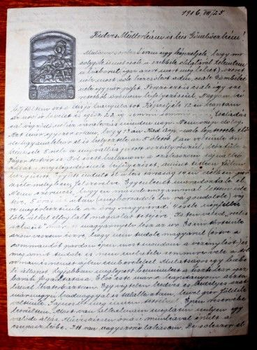 Haraszty Lajos; Scrisoare de pe front - Muzeul Judeţean - SATU MARE (Patrimoniul Cultural National Mobil din Romania. Ordin de clasare: 2367/22.05.2014 - Tezaur)