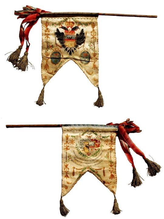 drapel; Fanion al comitelui Johann Von Tartler - Muzeul Naţional Brukenthal - SIBIU (Patrimoniul Cultural National Mobil din Romania. Ordin de clasare: 2709/19.12.2008 - Fond)