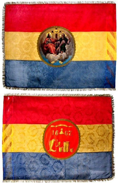 drapel; Steagul Breslei Cizmarilor - Muzeul Naţional Brukenthal - SIBIU (Patrimoniul Cultural National Mobil din Romania. Ordin de clasare: 2709/19.12.2008 - Fond)
