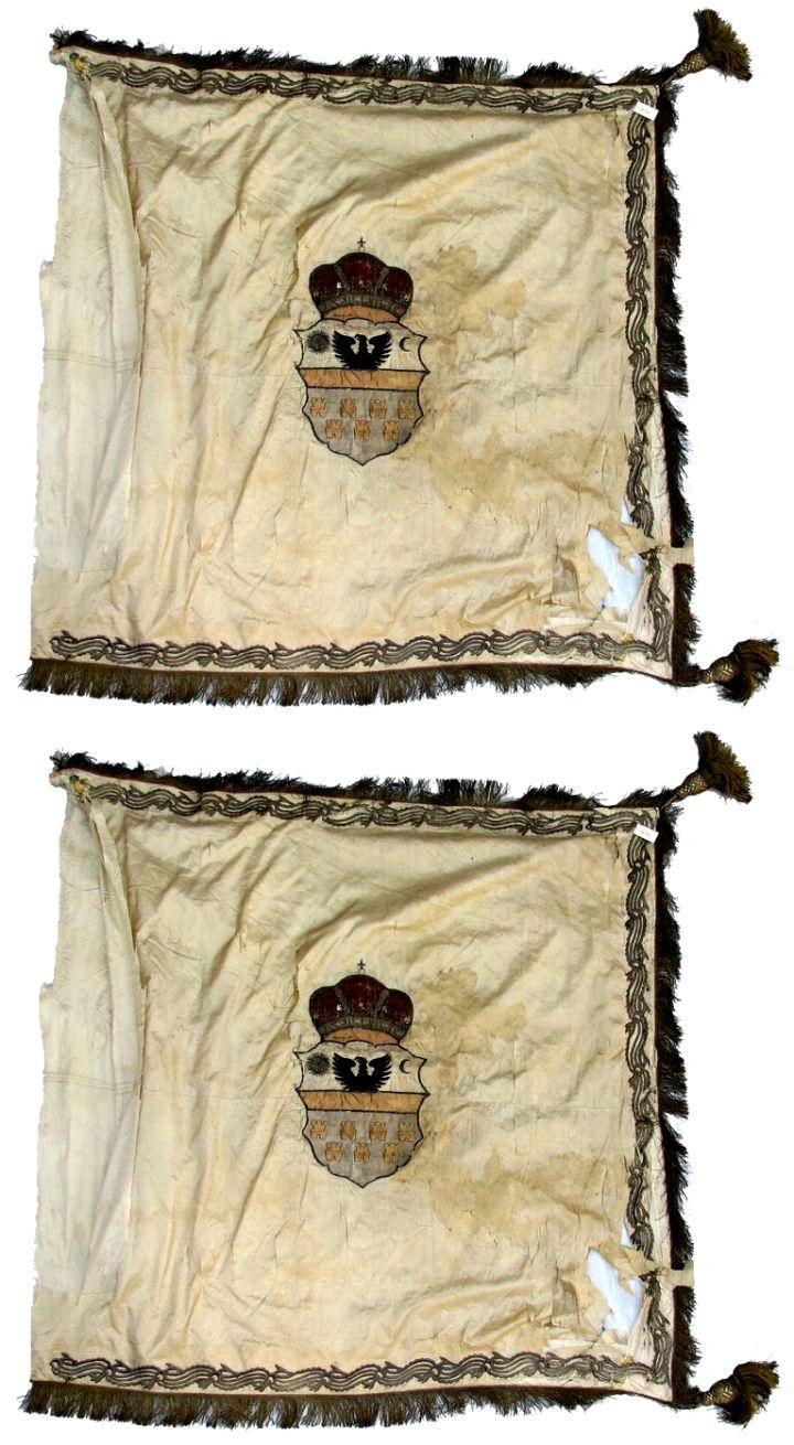 drapel; Steag al nobilului Teleki - Muzeul Naţional Brukenthal - SIBIU (Patrimoniul Cultural National Mobil din Romania. Ordin de clasare: 2709/19.12.2008 - Fond)