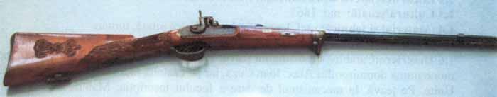 Carabină; Carabina domnitorului A.I. Cuza - Muzeul Municipiului Bucureşti - BUCUREŞTI (Patrimoniul Cultural National Mobil din Romania. Ordin de clasare: 2239/08.06.2006 - Tezaur)